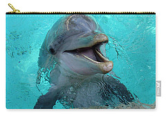 Carry-all Pouch featuring the photograph Sea World Dolphin by David Nicholls