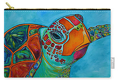 Seaglass Sea Turtle Carry-all Pouch by Patti Schermerhorn
