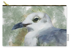 Carry-all Pouch featuring the painting Seagull Closeup by Greg Collins