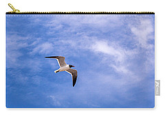 Carry-all Pouch featuring the photograph Seagull by Sennie Pierson