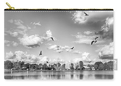 Carry-all Pouch featuring the photograph Seagulls by Howard Salmon