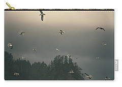 Seagulls In A Storm Carry-all Pouch