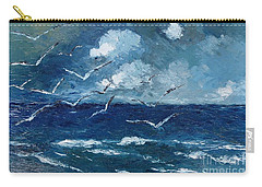 Seagulls Over Adriatic Sea Carry-all Pouch by AmaS Art