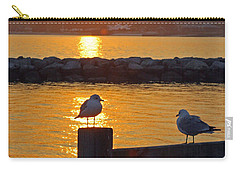 Seaguls At Sunset Carry-all Pouch