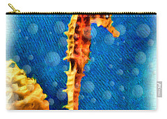 Carry-all Pouch featuring the digital art Seahorse by Daniel Janda