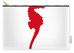 Seahorse In Red Carry-all Pouch
