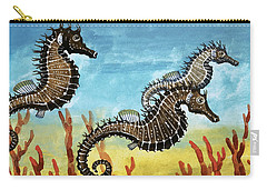 Seahorses Carry-all Pouch by English School