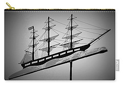 Carry-all Pouch featuring the photograph Seaman's Bethel Weathervane  by Kathy Barney