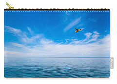 Seaplane Over Lake Superior   Carry-all Pouch by Lars Lentz