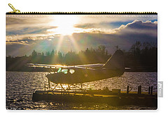 Seaplane Sunset Carry-all Pouch by Charlie Duncan