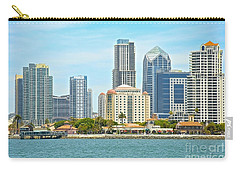 Seaport Village And Downtown San Diego Buildings Carry-all Pouch
