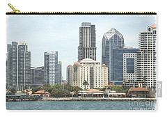 Seaport Village And Downtown San Diego Watercolor Carry-all Pouch