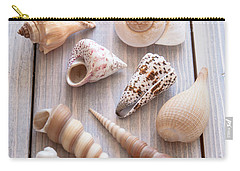 Carry-all Pouch featuring the photograph Seashell Collection by Jan Bickerton