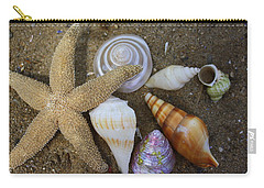 Seashells And Star Fish Carry-all Pouch