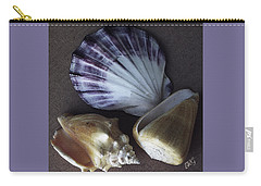 Carry-all Pouch featuring the photograph Seashells Spectacular No 30 by Ben and Raisa Gertsberg