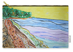 Carry-all Pouch featuring the painting Seashore Bright Sky by Stormm Bradshaw