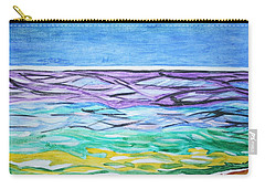 Carry-all Pouch featuring the painting Seashore Blue Sky by Stormm Bradshaw
