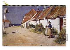 Seaside Cottages With Dovecot Carry-all Pouch by Edward Arthur Walton
