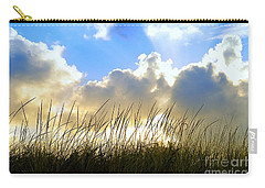 Seaside Grass And Clouds Carry-all Pouch