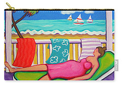 Seaside Siesta Carry-all Pouch by Rebecca Korpita
