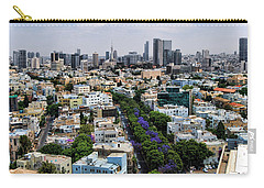Carry-all Pouch featuring the photograph season change at Rothschild boulevard  by Ron Shoshani