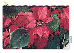 Carry-all Pouch featuring the painting Seasonal Scarlet 2 by Barbara Jewell