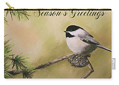 Season's Greetings Chickadee Carry-all Pouch