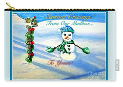 Carry-all Pouch featuring the painting Seasons Greetings From Our Mailbox To Yours by Kimberlee Baxter