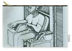 Seated Monkey Sketch Carry-all Pouch