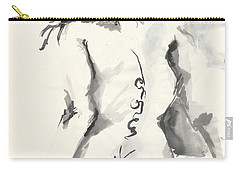 Seated Nude Carry-all Pouch