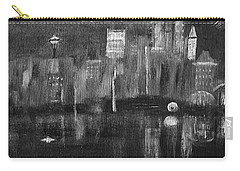 Seattle Black And White Carry-all Pouch