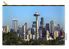 Seattle City Skyline And Downtown Carry-all Pouch by Panoramic Images