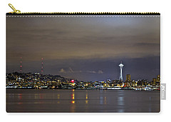 Seattle Cityscape At Night Carry-all Pouch