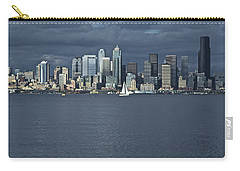 Seattle Cityscape From Alki Beach Carry-all Pouch