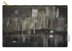 Seattle In The Rain Cityscape Carry-all Pouch