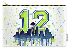 Seattle Seahawks 12th Man Art Carry-all Pouch