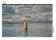 Seattle Skyline And Cityscape Carry-all Pouch