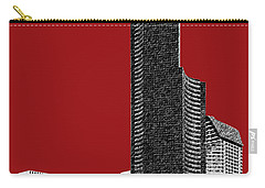 Seattle Skyline Columbia Tower - Dark Red Carry-all Pouch