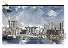Seattle Skyline Freeform Carry-all Pouch