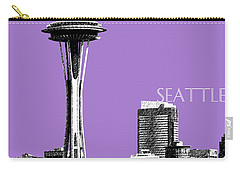 Seattle Skyline Space Needle - Violet Carry-all Pouch