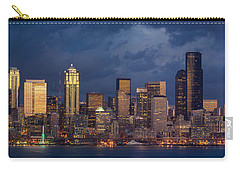 Seattle Skyline Sunset Detail Carry-all Pouch