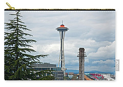 Seattle Spaceneedle Golden Anniversary Art Prints Carry-all Pouch by Valerie Garner