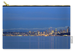 Carry-all Pouch featuring the photograph Seattle Surrounded By Blue by E Faithe Lester