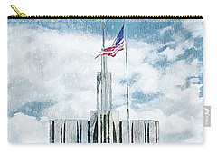 Carry-all Pouch featuring the painting Seattle Temple 1 by Greg Collins