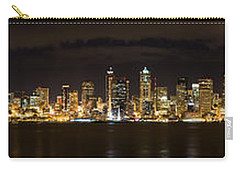 Seattle Waterfront At Night Panoramic Carry-all Pouch