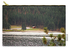 Carry-all Pouch featuring the photograph Secluded Cabin by Mary Carol Story