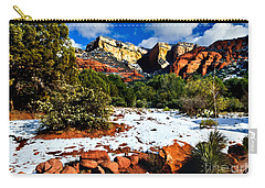 Carry-all Pouch featuring the photograph Sedona Arizona - Wilderness by Bob and Nadine Johnston