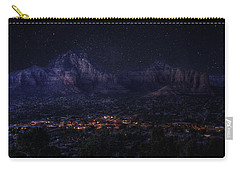 Carry-all Pouch featuring the photograph Sedona By Night by Lynn Geoffroy
