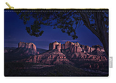 Sedona Cathedral Rock Post Sunset Glow Carry-all Pouch by Mary Jo Allen