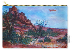 Sedona Red Rocks - Impression Of Bell Rock Carry-all Pouch by Ellen Levinson